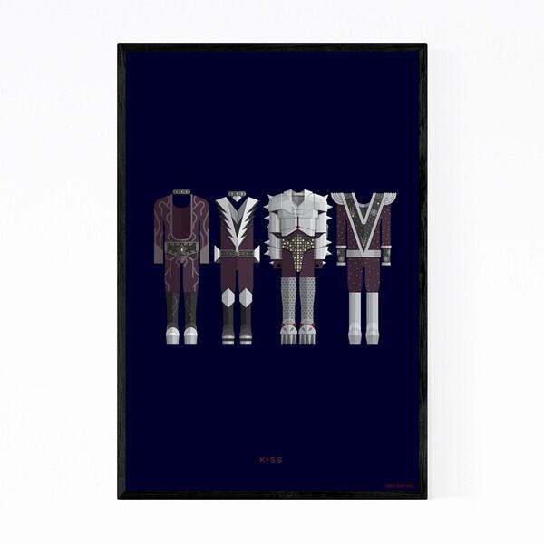 Noir Gallery Kiss Music Illustration Framed Art Print