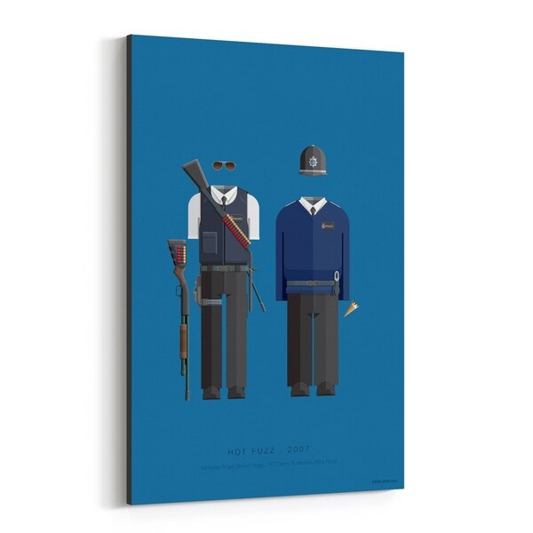 Noir Gallery Hot Fuzz Movie TV Illustration Canvas Wall Art Print