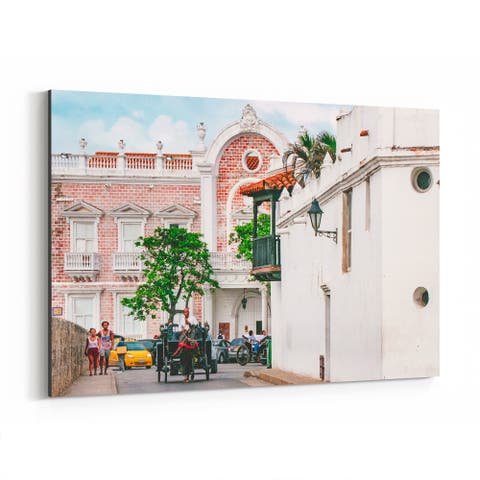 Noir Gallery Cartagena Colombia Architecture Photo Canvas Wall Art Print