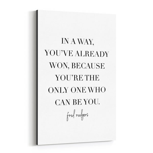 Noir Gallery Fred Rogers Quote Typography Canvas Wall Art Print