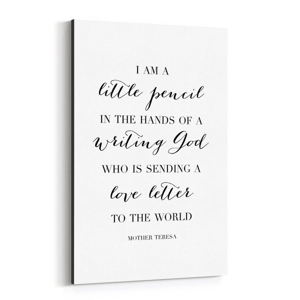 Noir Gallery Mother Teresa Quote Typography Canvas Wall Art Print