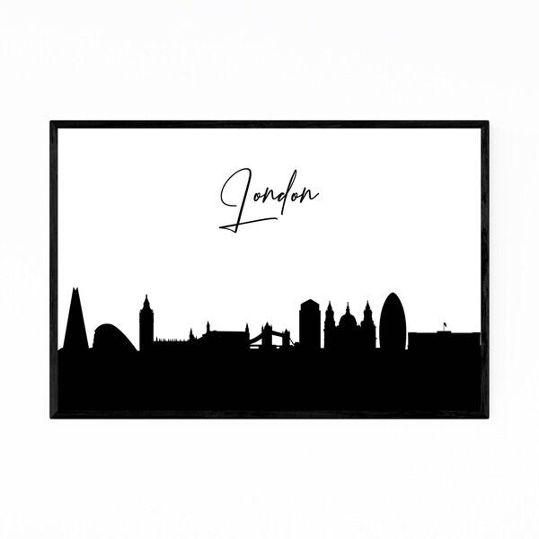 Noir Gallery London England City Typography Framed Art Print