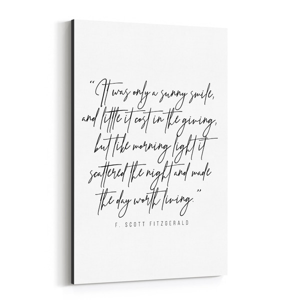 Noir Gallery F. Scott Fitzgerald Quote Typography Canvas Wall Art Print