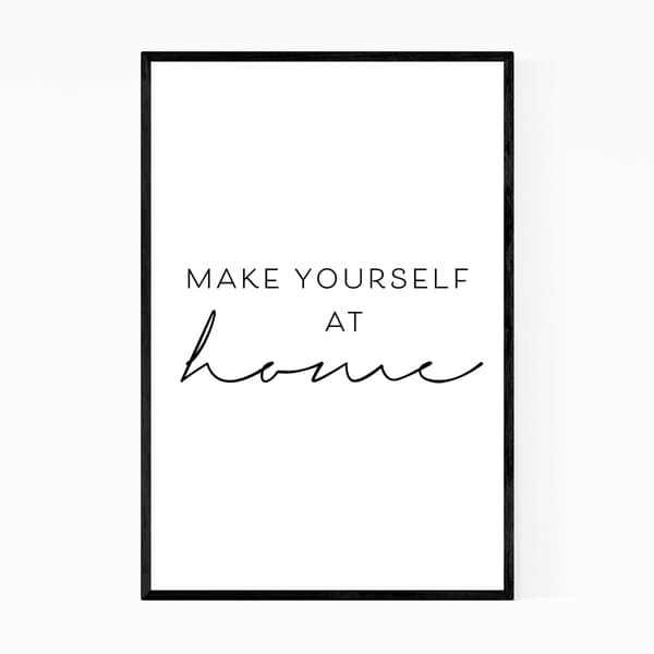 Noir Gallery Motivational Minimal Typography Framed Art Print