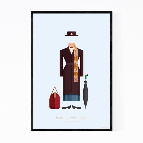 Noir Gallery Mary Poppins Movie TV Illustration Framed Art Print