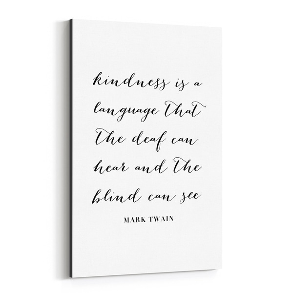 Noir Gallery Mark Twain Quote Typography Canvas Wall Art Print