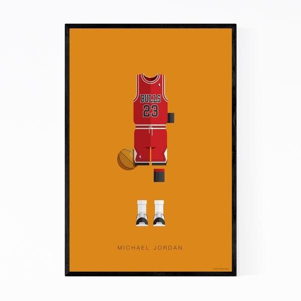 Noir Gallery Sports Michael Jordan Basketball Framed Art Print
