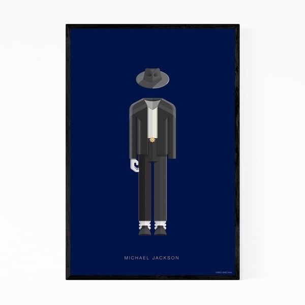 Noir Gallery Michael Jackson Music Illustration Framed Art Print
