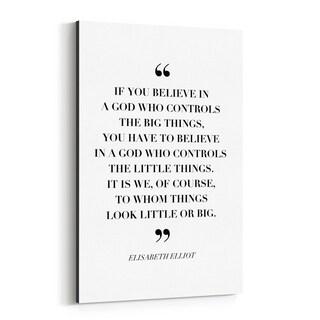 Noir Gallery Elisabeth Elliot Quote Typography Canvas Wall Art Print