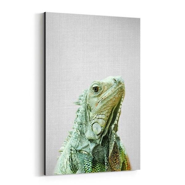 Noir Gallery Iguana Animals Photo Canvas Wall Art Print