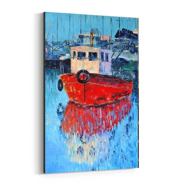 Noir Gallery Nautical Boats Painting Canvas Wall Art Print