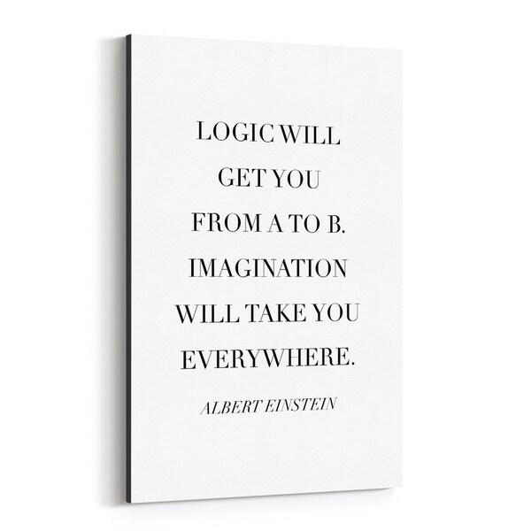 Noir Gallery Albert Einstein Quote Typography Canvas Wall Art Print