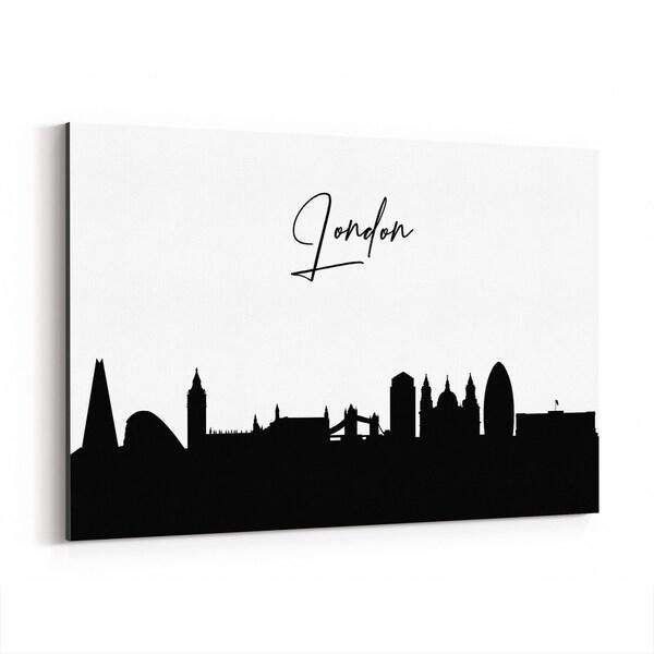 Noir Gallery London England City Typography Canvas Wall Art Print