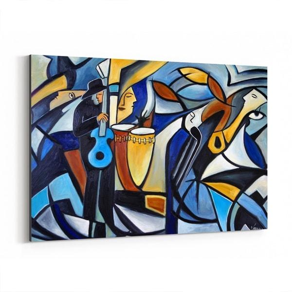 Noir Gallery Music Figurative Jazz Cubism Painting Canvas Wall Art Print