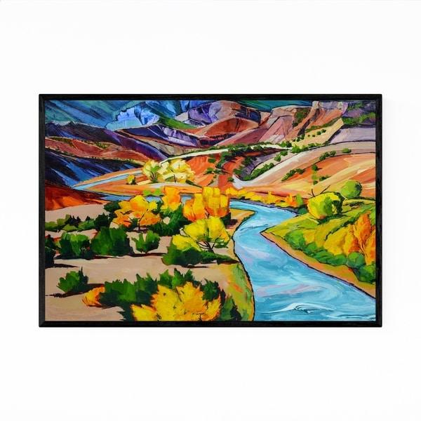Noir Gallery New Mexico Autumn Desert Painting Framed Art Print