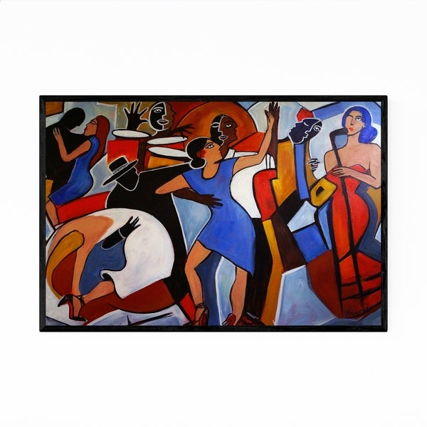 Noir Gallery Music Figurative Dancing Painting Framed Art Print