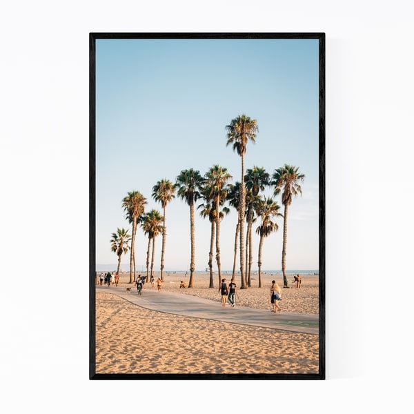 Noir Gallery Santa Monica California Beach Photo Framed Art Print