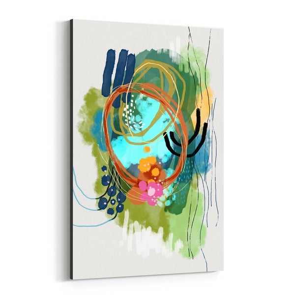 Noir Gallery Abstract Nature Floral Lilies Canvas Wall Art Print