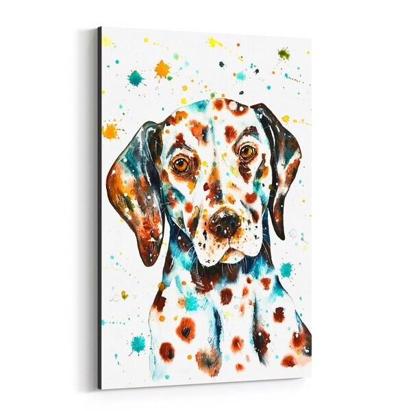 Noir Gallery Animal Dalmatian Dog Painting Canvas Wall Art Print