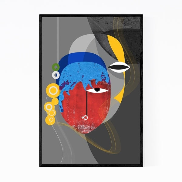 Noir Gallery Abstract Feminine Retro Painting Framed Art Print