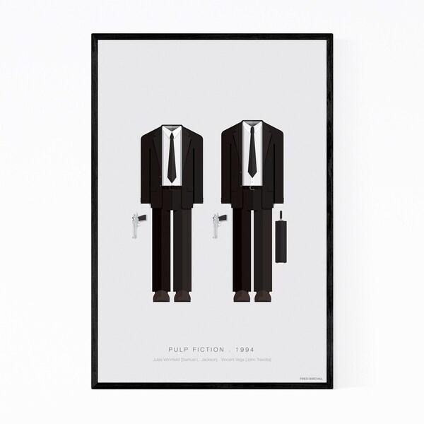 Noir Gallery Pulp Fiction Movie TV Illustration Framed Art Print