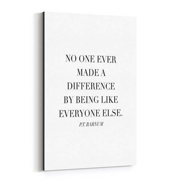 Noir Gallery P.T. Barnum Quote Typography Canvas Wall Art Print