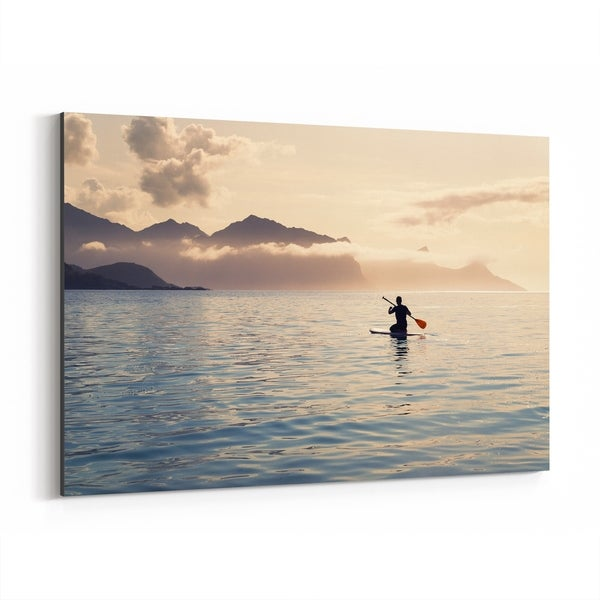 Noir Gallery Norway Beach Nautical Nature Photo Canvas Wall Art Print