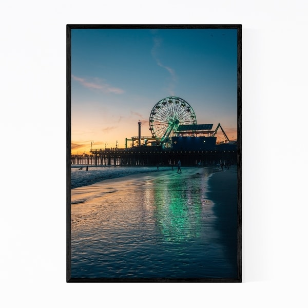 Noir Gallery Santa Monica California Beach Photo Framed Art Print