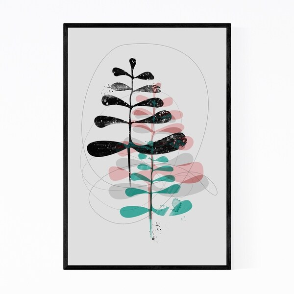 Noir Gallery Abstract Nature Forest Painting Framed Art Print