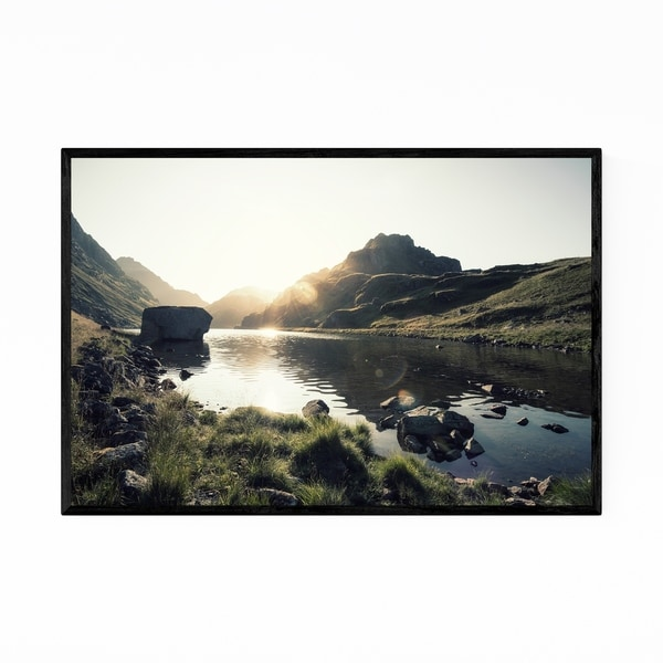 Noir Gallery Norway Mountains Nature Photo Framed Art Print