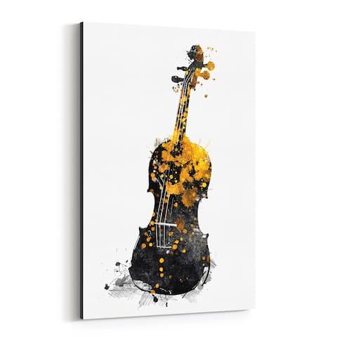Noir Gallery Violin Music Illustration Canvas Wall Art Print
