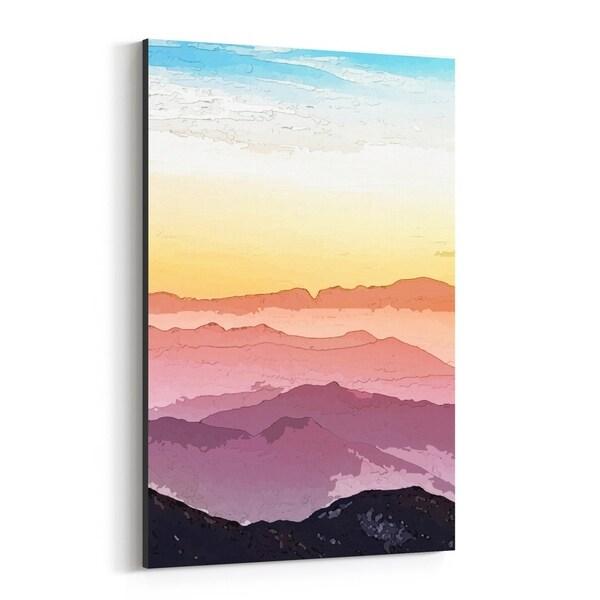 Noir Gallery Watercolor Mountains Illustration Canvas Wall Art Print