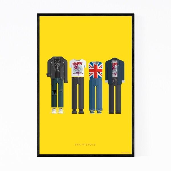 Noir Gallery Sex Pistols Music Illustration Framed Art Print
