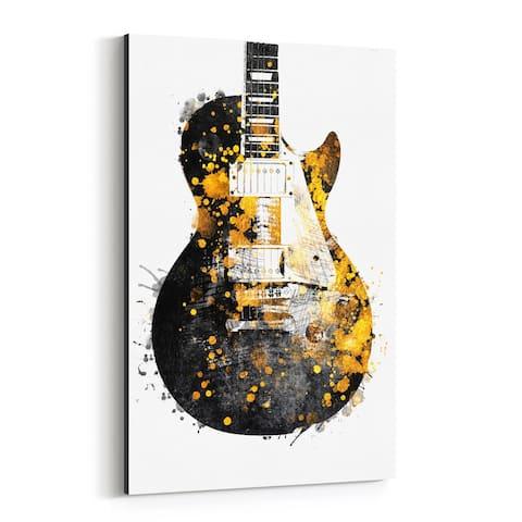 Noir Gallery Guitar Music Illustration Canvas Wall Art Print