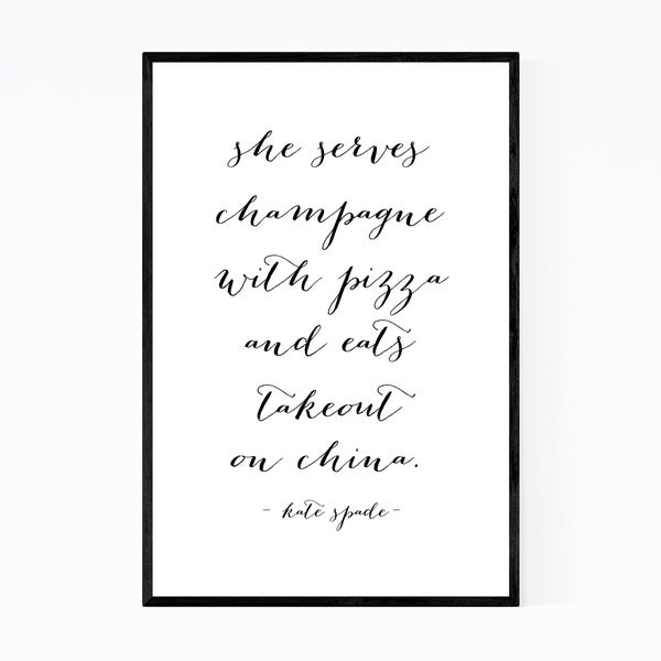 Noir Gallery Kate Spade Quote Typography Framed Art Print