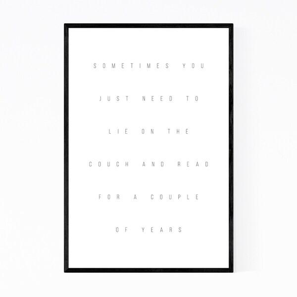 Noir Gallery Self Love Reading Minimal Typography Framed Art Print