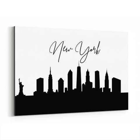 Noir Gallery New York New York City Typography Canvas Wall Art Print
