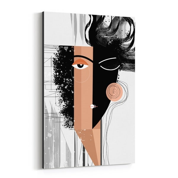 Noir Gallery Abstract Figurative Painting Canvas Wall Art Print