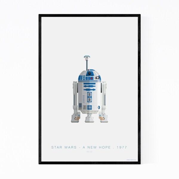 Noir Gallery Star Wars Illustration Framed Art Print