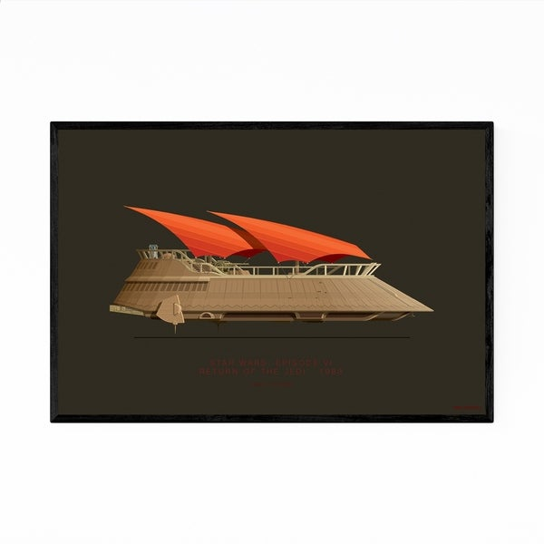 Noir Gallery Star Wars Jabba's Sail Barge Framed Art Print