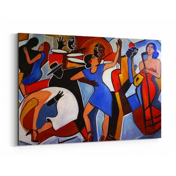 Noir Gallery Music Figurative Dancing Painting Canvas Wall Art Print