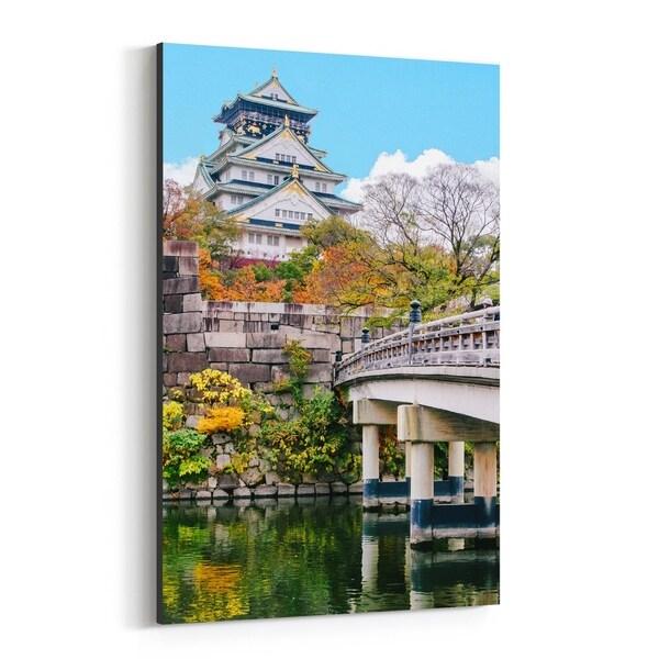 Noir Gallery Osaka Japan Castle Photo Canvas Wall Art Print
