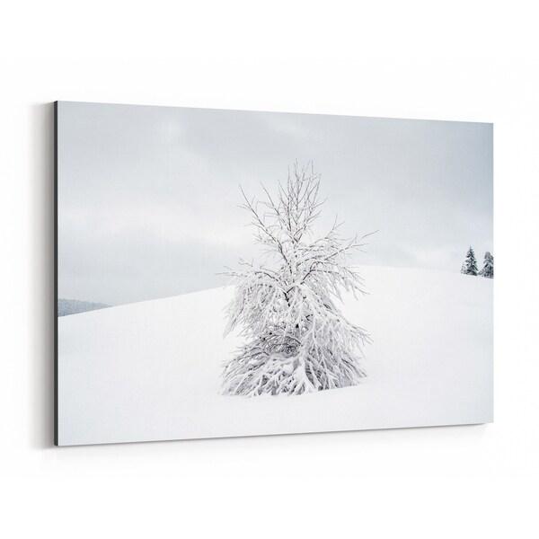 Noir Gallery Sweden Winter Nature Photo Canvas Wall Art Print