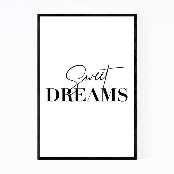Noir Gallery Sweet Dreams Typography Framed Art Print