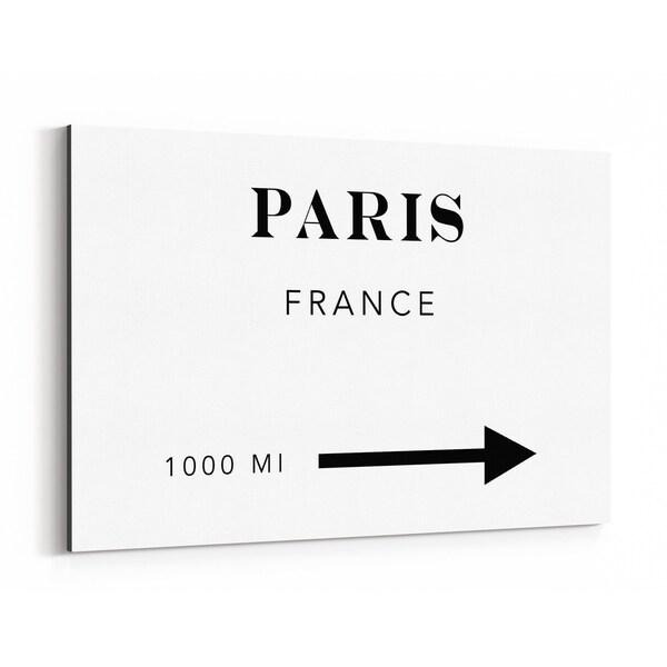 Noir Gallery Paris France City Typography Canvas Wall Art Print