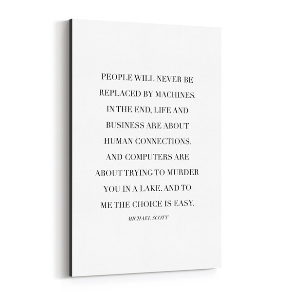 Noir Gallery The Office TV Humor Quote Typography Canvas Wall Art Print