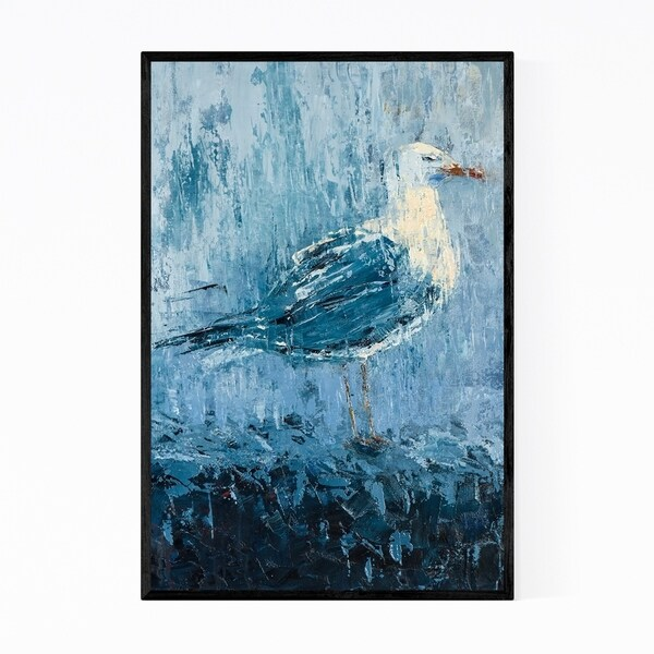 Noir Gallery Animals Seagull Birds Painting Framed Art Print