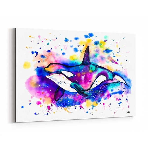 Noir Gallery Animal Whale Painting Canvas Wall Art Print