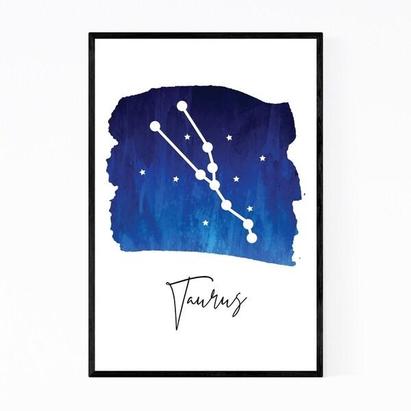 Noir Gallery Taurus Zodiac Constellation Framed Art Print