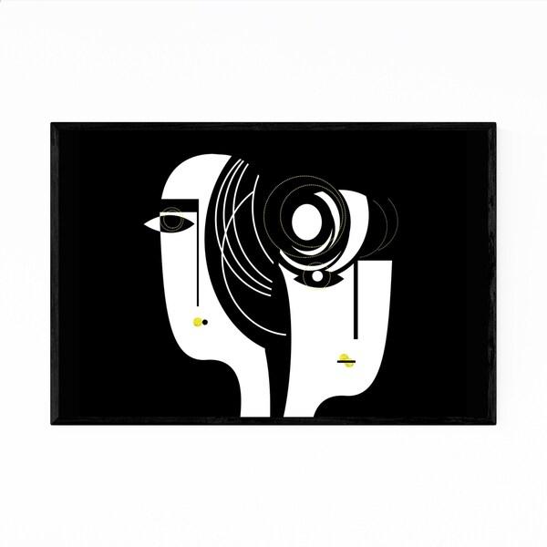 Noir Gallery Abstract Feminine Figurative Painting Framed Art Print